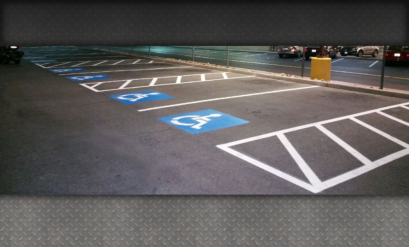 Handicap parking spaces
